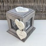 Shabby Chic PERSONALISED Rustic Wood Special Best Friend ANY NAME Photo Cube - 332870607222